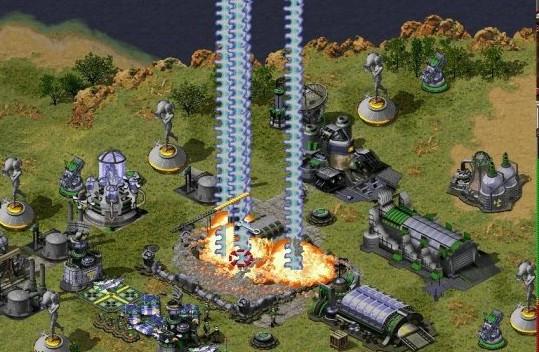 >>红色警戒2攻略大全<< 2.在红警对战中如果不是快攻,到最后双方都会集结大量的军队在前沿准备决战。 但由于地形的关系,先进攻的一方必然会吃亏。先造一个潭雅,不要造出来,快好时暂停。再建一个间谍卫星和一个兵营。等可以空投时,先将间谍卫星空投到离敌人总部较近的后方。由于间谍卫星的周围可造建筑物,马上把兵营建在离敌人总部最近的地方,选择这个为主要兵营。 同时把潭雅造好,这样一来潭雅就出现在敌方的建筑群中。尽快卖掉间谍卫星和主要兵营,同时派出一小队坦克祥功,这样可以减小敌人发现的几率