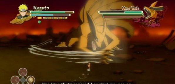 火影忍者 九尾/1、第一场战斗为鸣人和九尾的战斗,刚开始时九尾的头会低下来,...