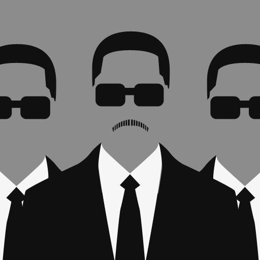 三个穿黑衣戴墨镜的男人
