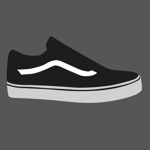 黑色鞋子白色杠