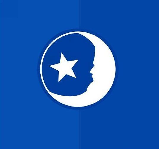 疯狂猜图品牌_蓝色背景_月亮星星_两个字
