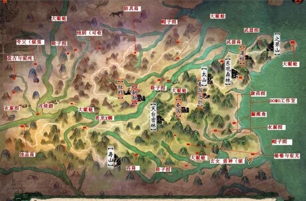 轩辕剑6大地图全隐藏金蛋位置