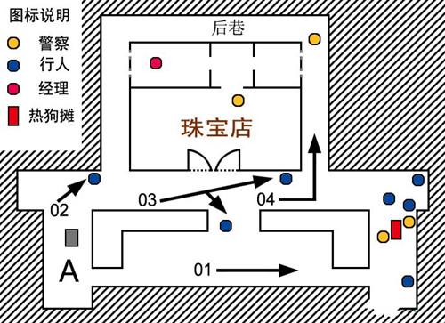 珠宝店平面地图