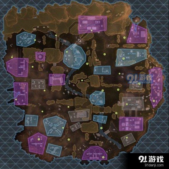 apex英雄地图哪里肥 巅峰传说地图资源分布图一览