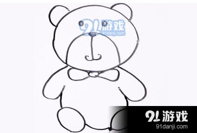 QQ红包玩具熊图案怎么画 玩具熊图案简笔画画法技巧