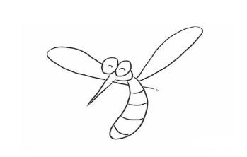 QQ红包蚊子图案怎么画 蚊子图案简笔画教学指南