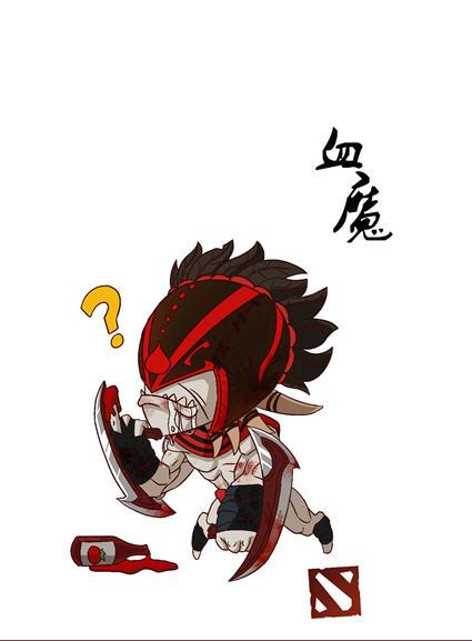 《dota2》有爱玩家手绘q版萌英雄