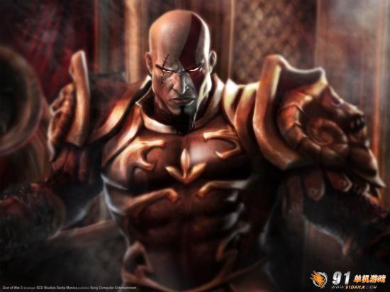 壁纸 奎托斯/奎托斯是PS2大作《战神》的主角,希腊神话无此人物,奎托斯是...