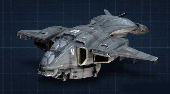 《光环4》多款战车飞机3d模型图_91单机游戏
